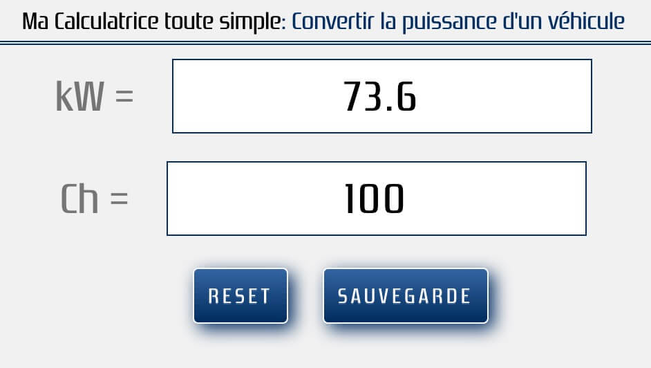 calculer et convertir la puissance d u0026 39 une voiture en kw ou en chevaux